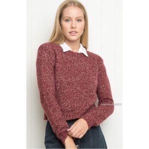 Brandy Melville burgundy crewneck sweater XS/S